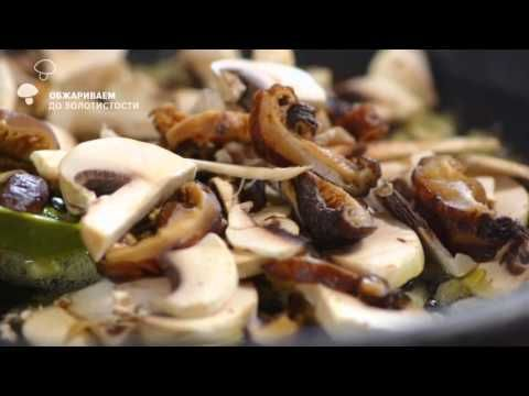 Видео-рецепт «Грибные равиоли со сливочным соусом»