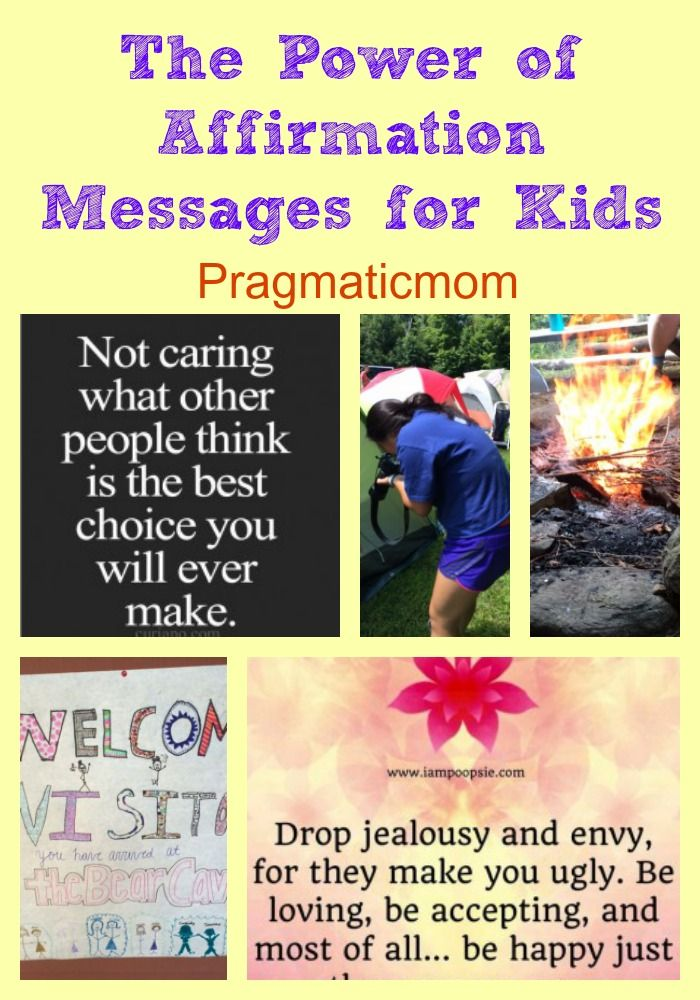 Positive Affirmation for Kids :: PragmaticMom