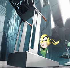 mini Iron Fist(ultimate spiderman)  He's so tiny and cute!!