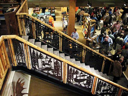 Custom Stair Railing Panels At The Llbean Headquarters