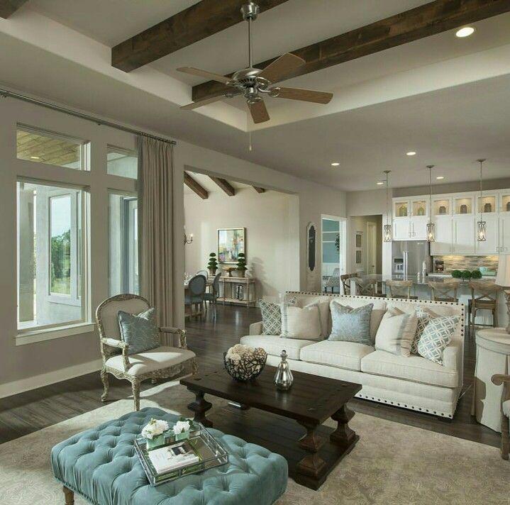Familienzimmer, Wohnzimer, Wohnzimmer Lounge, Rock Design, Offenes Konzept,  Neutralen Farben, Farbe Hervorheben, Deko Ideen, Empfänge