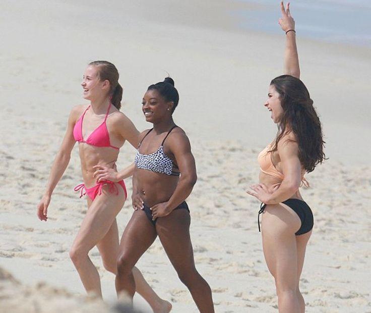 Bikini female gymnast pic