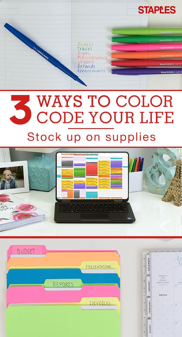 Color helps us remember, and let's face it, we could all use a little help in the memory department. Bring a little brightness to your day when you color code your notes, calendar, files and more. Shop colorful supplies at Staples.