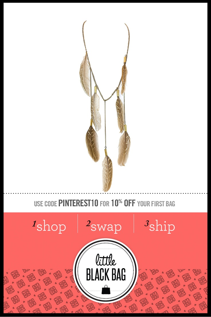 All the Rage Feather Necklace from LittleBlackBag.com :: Feather :: Necklace :: Neutral