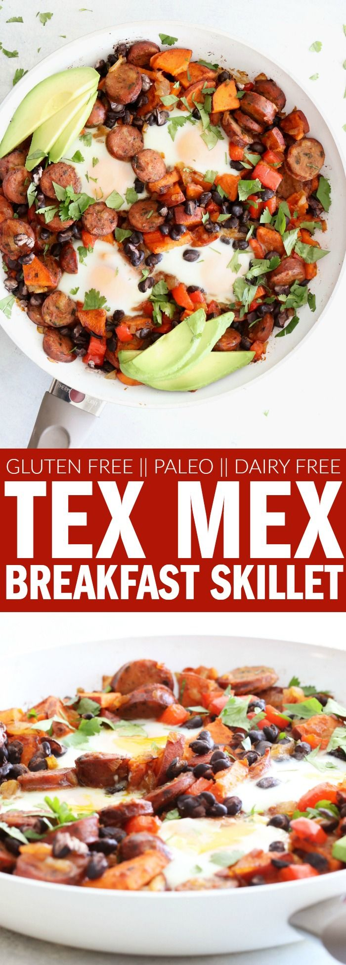 Tex Mex Breakfast Skillet | gluten free | vegan | diary free | recipes | recipe | low carb | healthy | fresh | clean eating | healthyish | low ingredient | easy | the easiest | quick | simple | breakfast | brunch | party | menu | skillet | for company | one