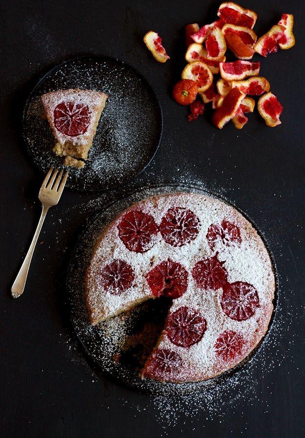 Mandel-Blutorangenkuchen
