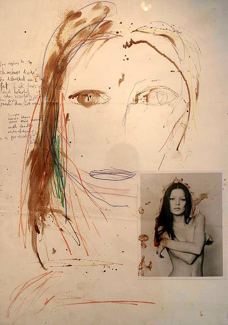 Pete Doherty blood artwork Kate Moss