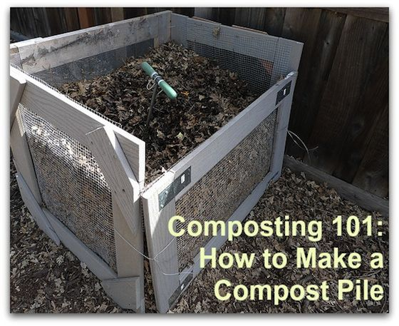 Composting 101- How to Make a Compost Pile #compost