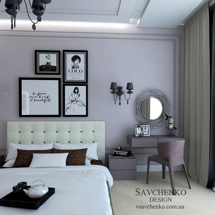 Французские квартиры - вдохновение для спальни ,легкий современный интерьер с элементами  классики