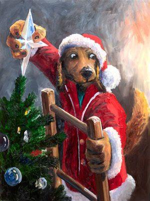 Houndside Christmas, Lonely Dog Ivan Clarke