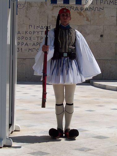 Guardia del parlamento griego.