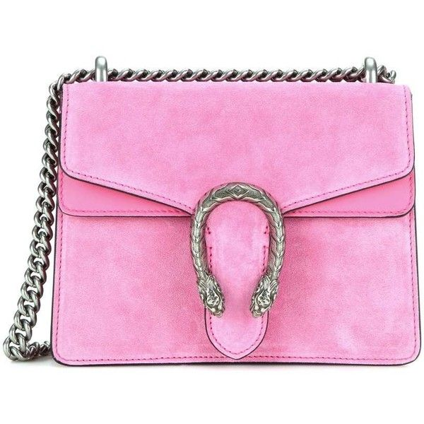 Gucci Dionysus Mini Suede Shoulder Bag (6,375 SAR) ❤ liked on Polyvore featuring bags, handbags, shoulder bags, pink, gucci, pink purse, mini shoulder bag, shoulder hand bags and pink handbags