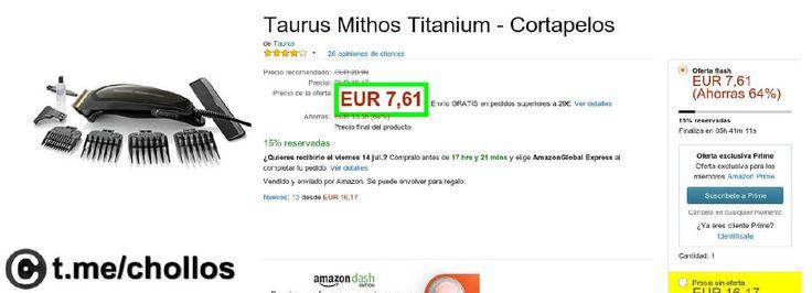 Cortapelos Taurus Titanium por 7 - http://ift.tt/2sN4hdz