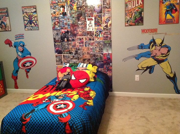 146 best images about cool ideas on pinterest batman for Comic book bedroom ideas