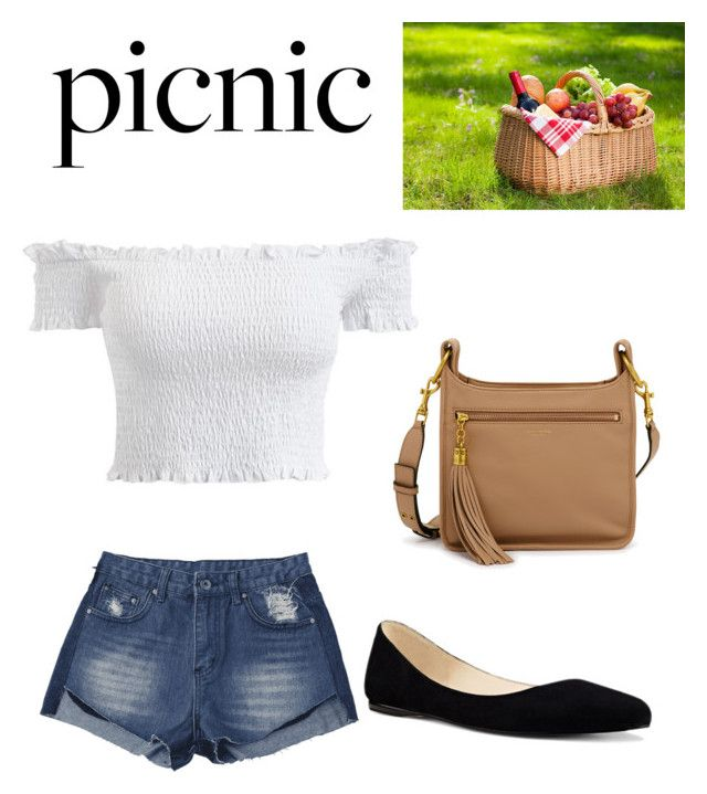 """""""Picnic outfit"""" by gabriella-hellgren ❤ liked on Polyvore featuring Nine West and Henri Bendel"""