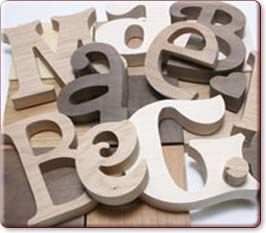 Large Wooden Letters & Numbers website. You can order different phonts/sayings, etc.