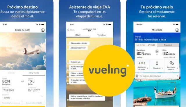 Hoteles Y Vuelos Baratos Mejores Apps Busca Ya Tu Vuelo Barato Con Vueling App Vuelo Barato Vuelos Boletos De Avion