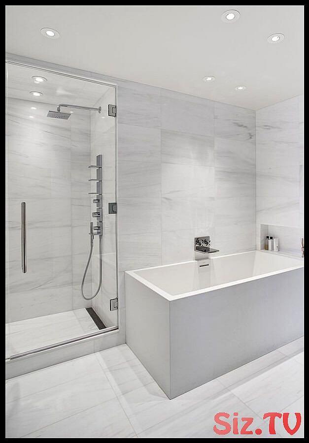 75 White Bathrooms Design Ideas 038 Inspiration Bathrooms Design Ideas Inspiration Marble Bathro Fliesenboden Marmorfliesen Badezimmer Badezimmer Design