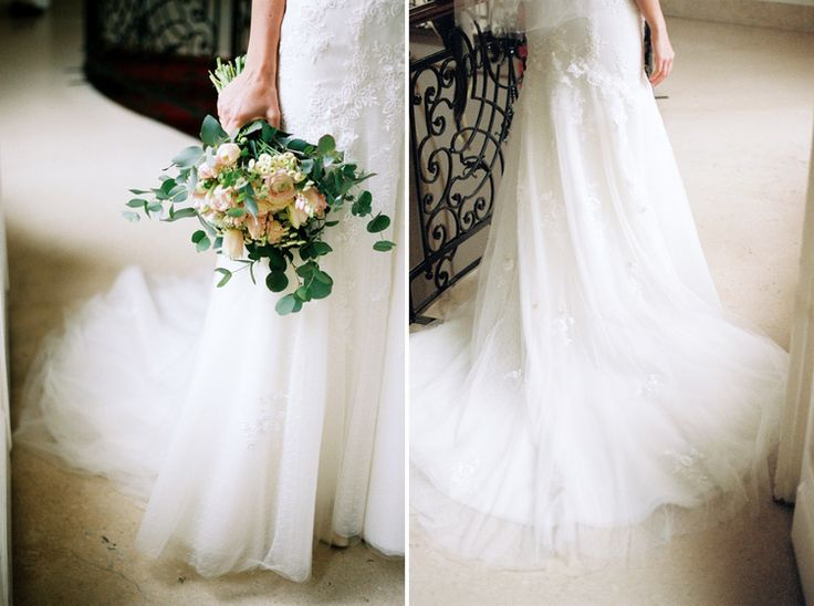 Lovely dress and bouquet