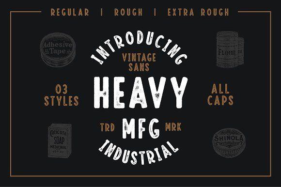 Heavy Mfg Vintage Sans Serif Fonts Sans Serif Vintage Typography Industrial Font