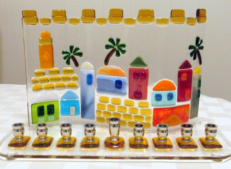 how to make a hanukkah menorah