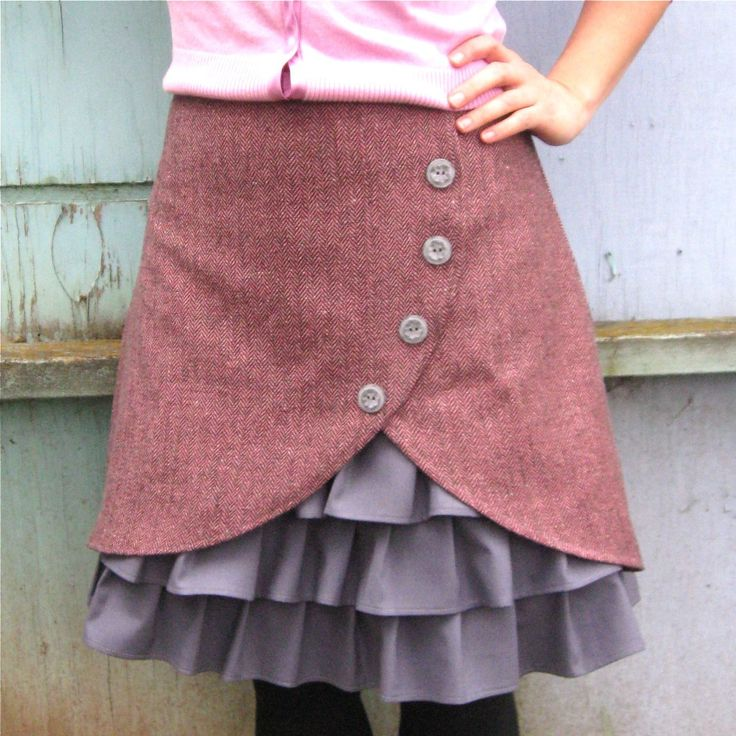 Dusty+Rose+ruffle+front+skirt+Sz+8+by+LoveToLoveYou+on+Etsy,+$72.00