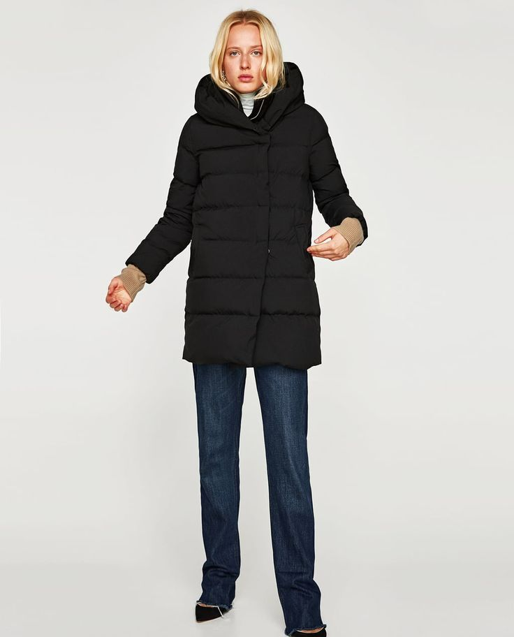 Image 1 of DOWN PUFFER ANORAK WITH HOOD from Zara