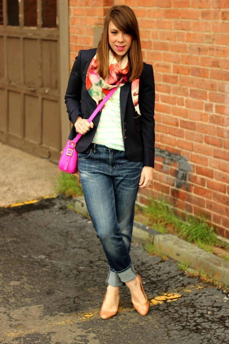 florals, stripes, a bright bag - The Other Side of Gray