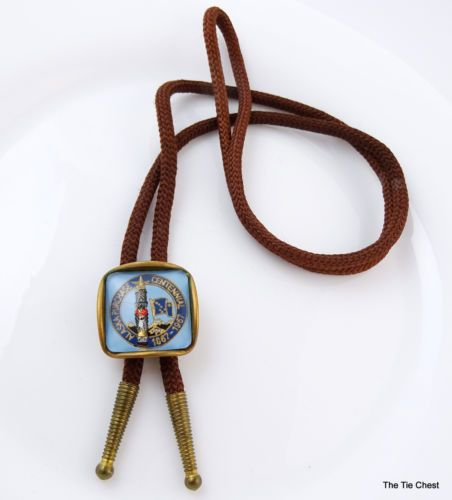 Vintage 1967 Bolo Tie Alaska Purchase Centennial Bola Western Necktie