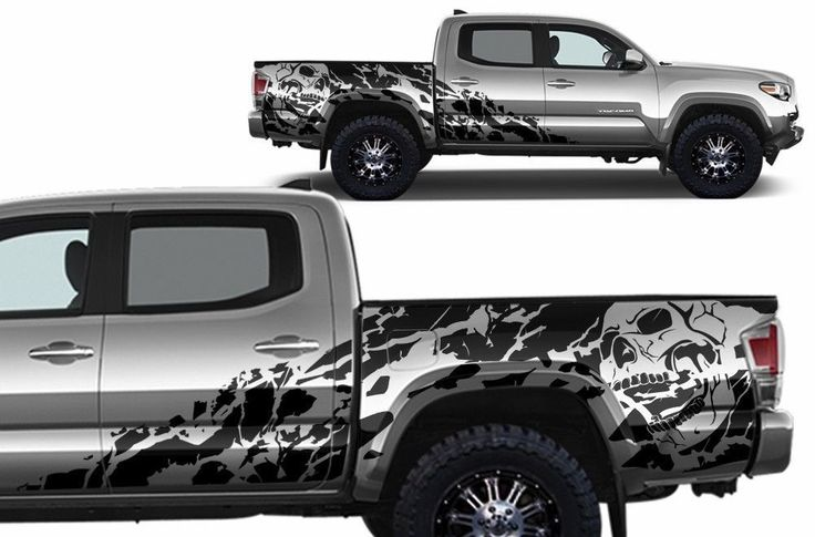 """VINYL DECAL """"NIGHTMARE"""" WRAP KIT FOR 2016 TOYOTA TACOMA  MATTE BLACK  FITS 4 DOOR SHORT BED MODELS ONLY  (Comes with Vinyl to cover BOTH sides of vehicle)  Please note that all of our items are made-to-order and can take 3-5 business days to pr..."""