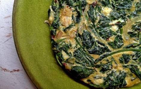 frittata con foglie di ravanello