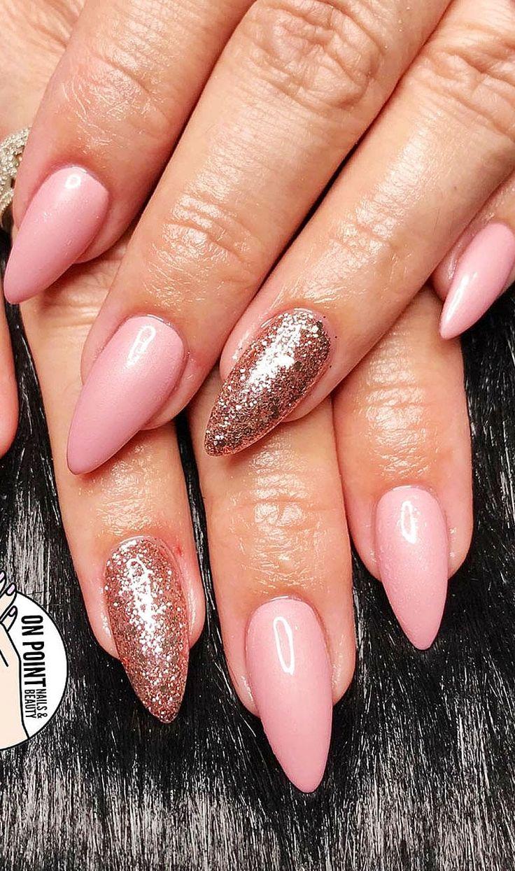 Einfache und Acryl Mandelnagelformen geeignet für den Sommer. (Kurze und lange Nagelformen sind gemischt) 23   – Nails