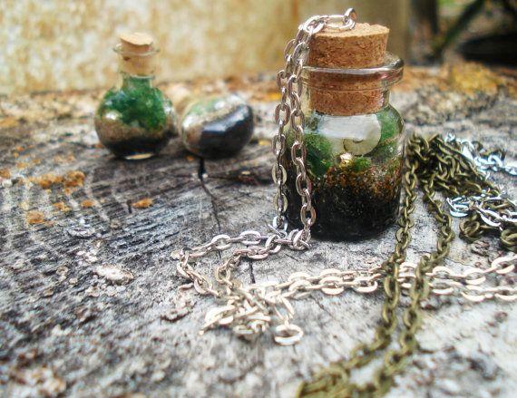Terrarium Wish bottle Mini Terrarium Wish bottle #etsy by DreamADesign