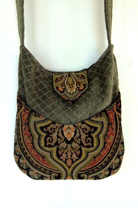 Tapestry Gypsy Bag Messenger Bag Bohemian Green By