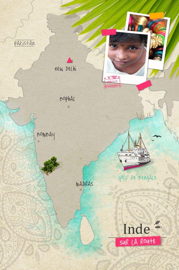 On the road India // Sur la route Inde Fraise-Basilic