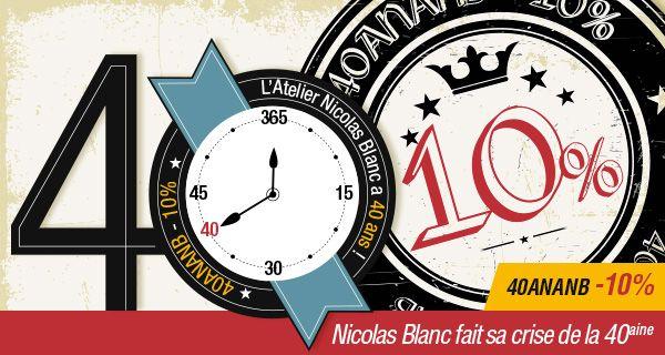 LES 40 JOURS EXCEPTIONNELS CONTINUENT !  L'Atelier Nicolas Blanc continue sa crise de la quarantaine...  Bénéficiez de 10% de réduction sur votre prochaine commande en utilisant le code Promo : *40ANANB* ! #codepromo