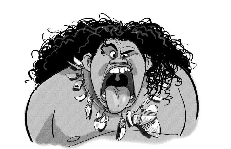 Expressões e poses dos personagens Maui e Moana | THECAB - The Concept Art Blog