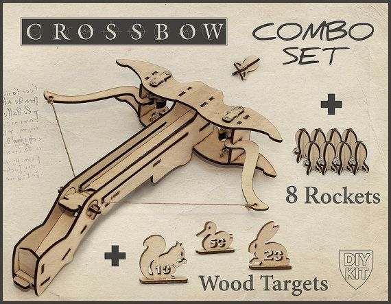 Ballesta de madera DIY Kit con objetivos. Regalo por DecolorisShop