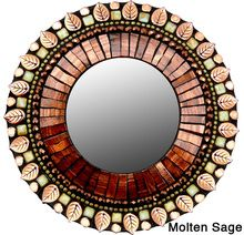 7in Round Mosaic Mirrors
