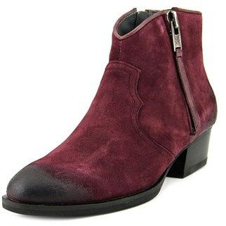 Bussola Style Alameda Women Round Toe Suede Purple Ankle Boot.