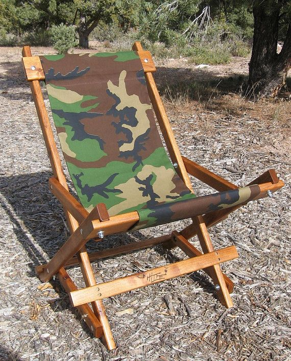 Alder Wood Sling Chair In Camo Outdoor By