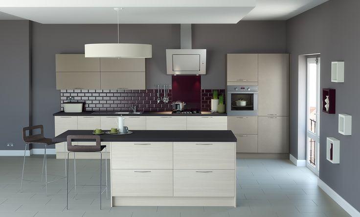 Plaza Stone & Hacienda Ivory. Stunning Modern Kitchen Designed to Inspire!  http://www.academyhome.co.uk/products/kitchens/kitchen-ranges/modern
