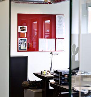 Tableau magnétique en verre rouge (2 tailles) Chat-Board