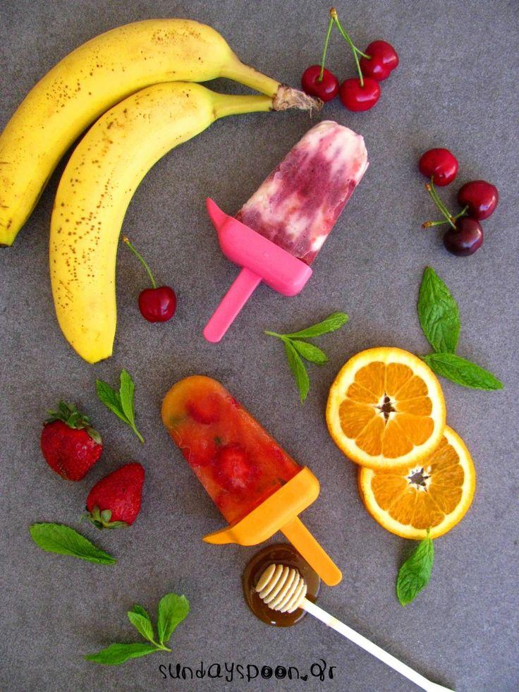 Guilt-free fruit popsicles / Υγιεινές γρανίτες φρούτων • sundayspoon