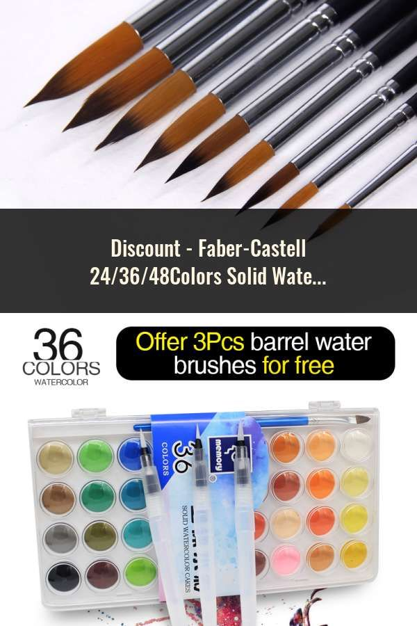 Faber Castell 24 36 48colors Solid Watercolor Paint Professional