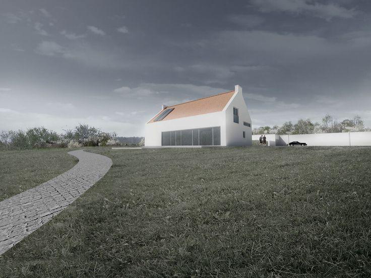 Projekt domu jednorodzinnego pod Warszawą wizualizacje architektoniczne