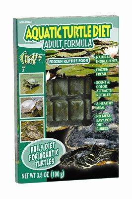 REPTILE - FOOD: FROZEN - AQUATIC TURTLE DIET CUBE - 3.5 OZ - SAN FRANCISCO BAY BRAND INC. - UPC: 945880040 - DEPT: REPTILE PRODUCTS