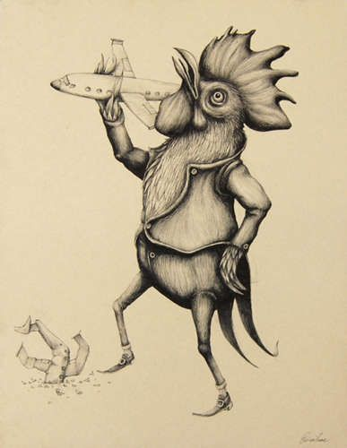 Vengeful Animal Illustrations: Nature Gets Back at Humans in Ericailcane's Art Exhibit