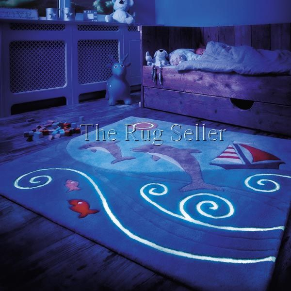 Childrens glowy rugs 3097 52 dolphin