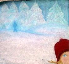 My Shadow Dream, 2010, oil pastel by Jolene Hachey